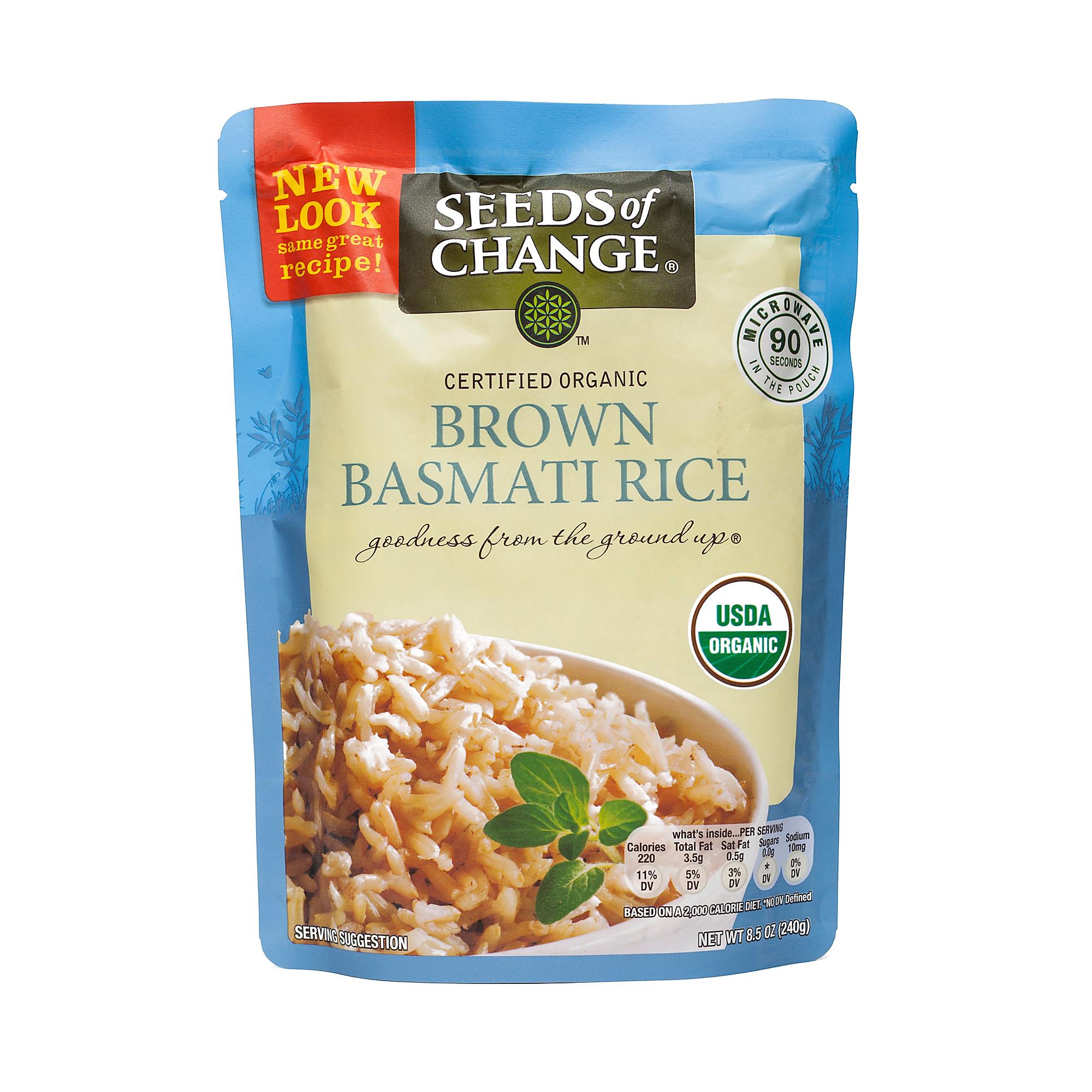 Seeds of Change Organic Brown Basmati Rice - Microwavable
