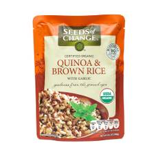 Organic Quinoa and Brown Rice with Garlic - Microwavable