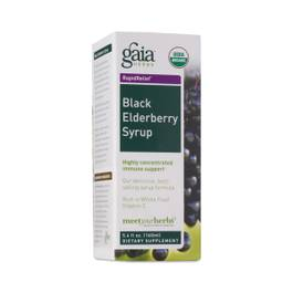 Gaia Herbs, Rapid Relief, Black Elderberry Syrup