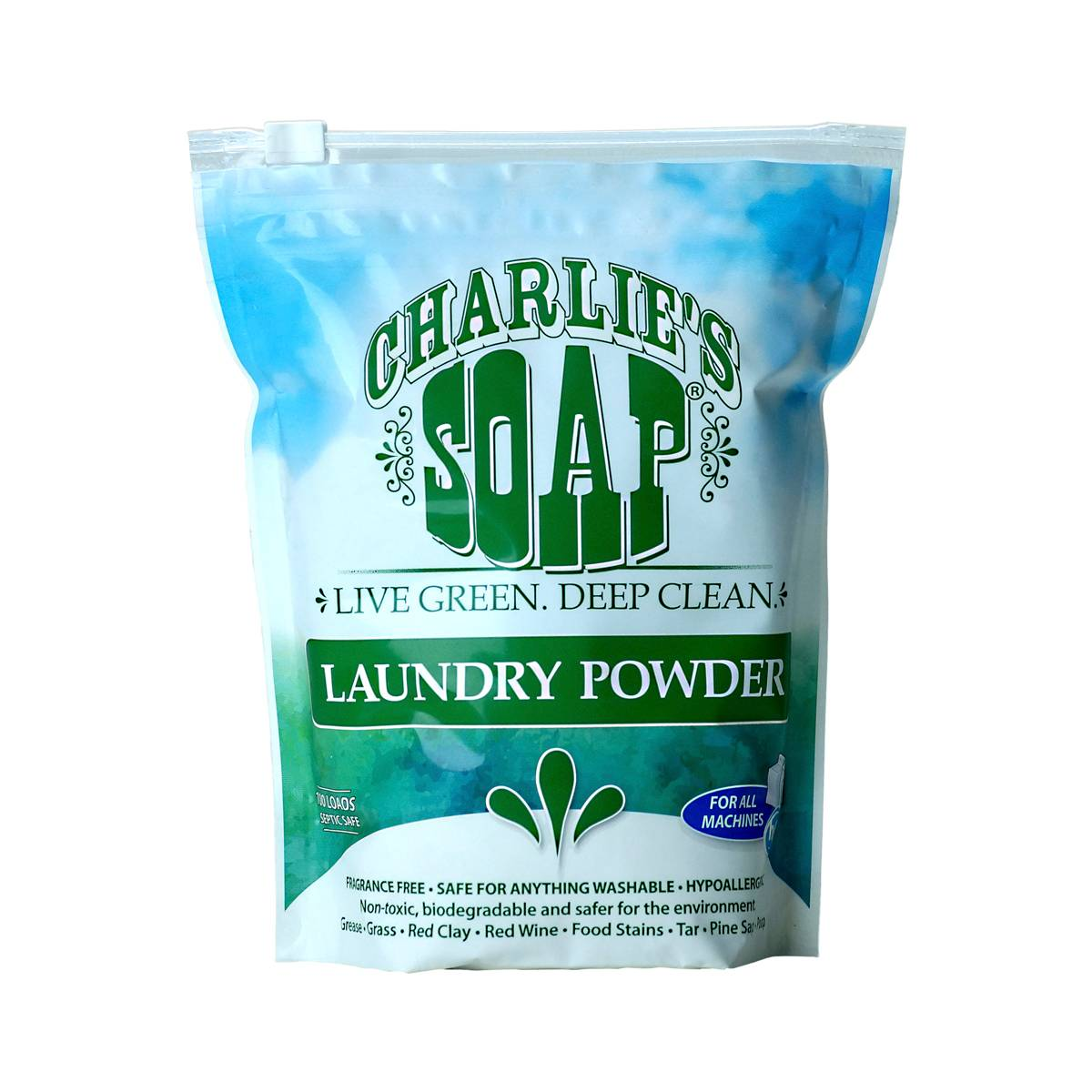 Laundry powder by charlie 39 s soap thrive market for Charlie s fish market