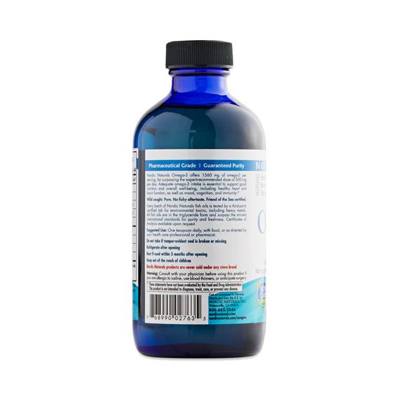 Omega 3 fish oil liquid by nordic naturals thrive market for Nordic naturals fish oil liquid
