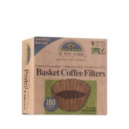 "Certified Compostable Coffee Filters for 8"" Basket"