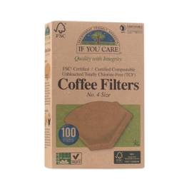 Compostable Certified Coffee Filters, #4 Cone
