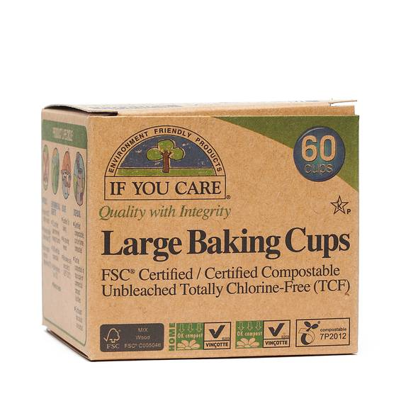 FSC Unbleached Large Baking Cups 60 ct