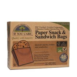 Unbleached Paper Sandwich and Snack Bags 48 ct