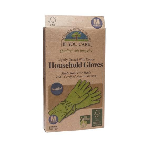 Fair Trade FSC Household Gloves Size Medium 1 pair