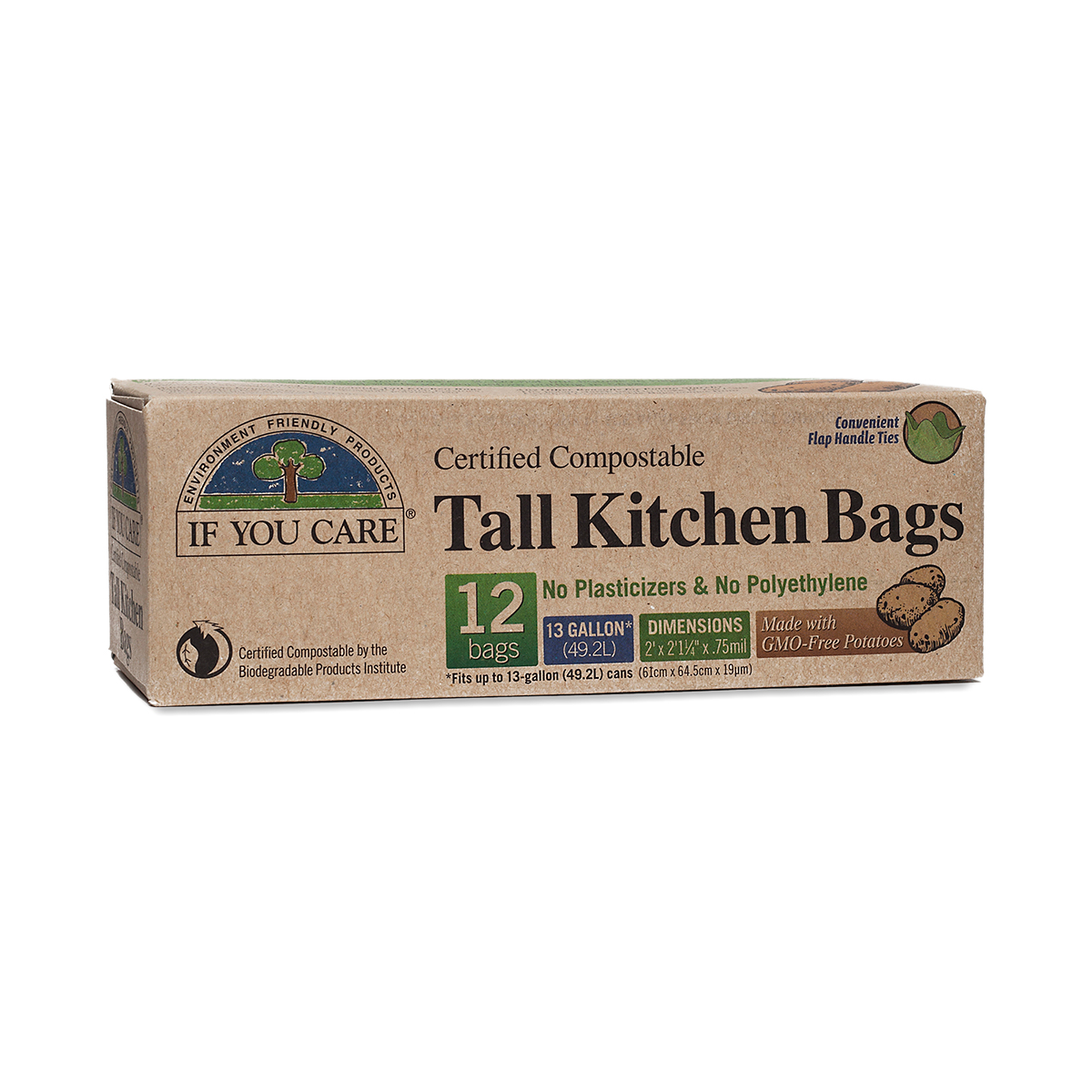 12 Pack Tall 13 Gallon Compostable Kitchen Bags Thrive