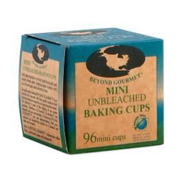 Unbleached Mini Baking Cups