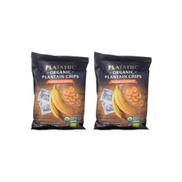 Organic Plantain Chips, Naturally Sweet, 2 Pack