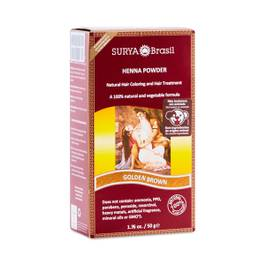 Golden Brown Henna Hair Coloring Powder