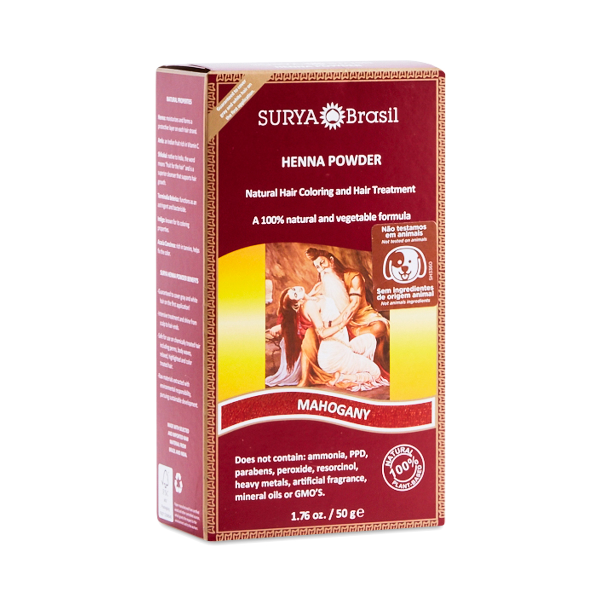 Mahogany Henna Hair Coloring Powder by Surya Brasil - Thrive Market