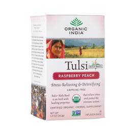 Tulsi Raspberry Peach Tea