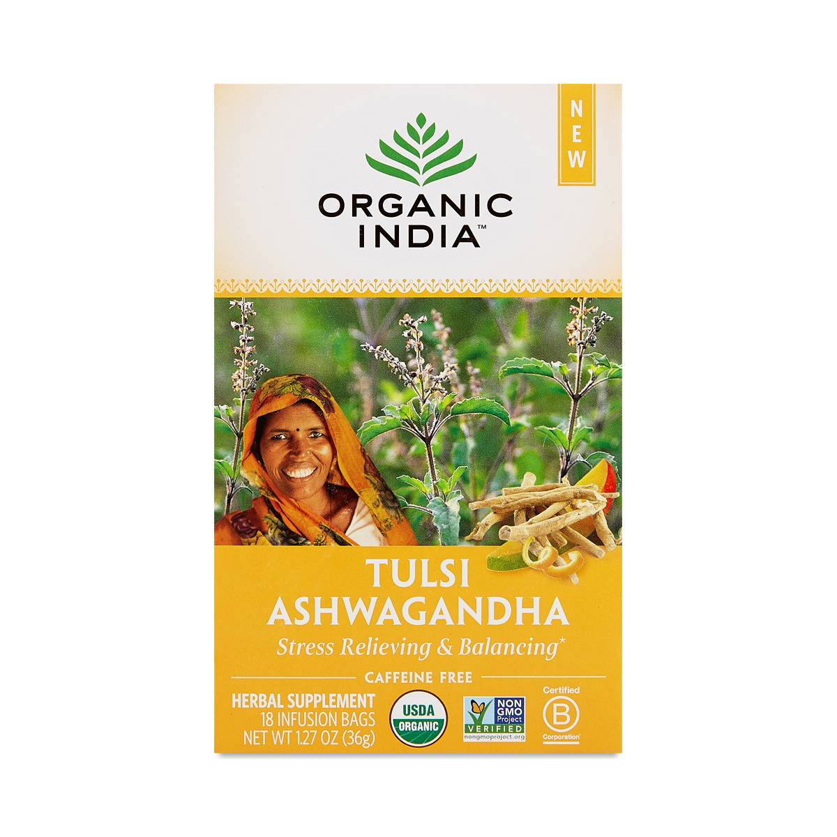 Organic India Tulsi Ashwagandha Tea - Thrive Market
