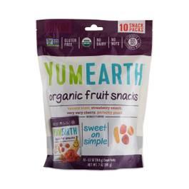 Organic Fruit Snacks,10-pack