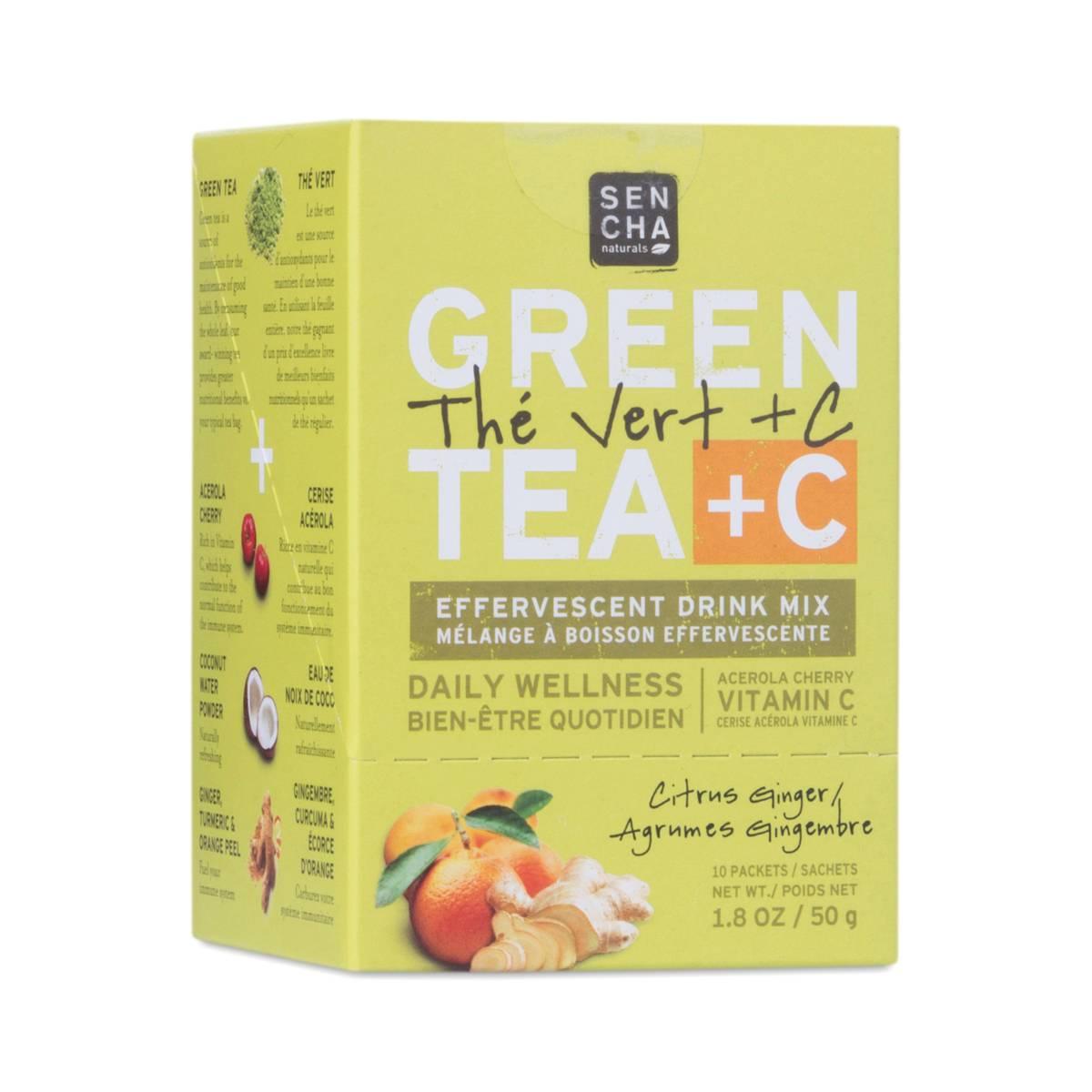 Citrus Ginger Green Tea + C Drink Mix by Sencha Naturals ...
