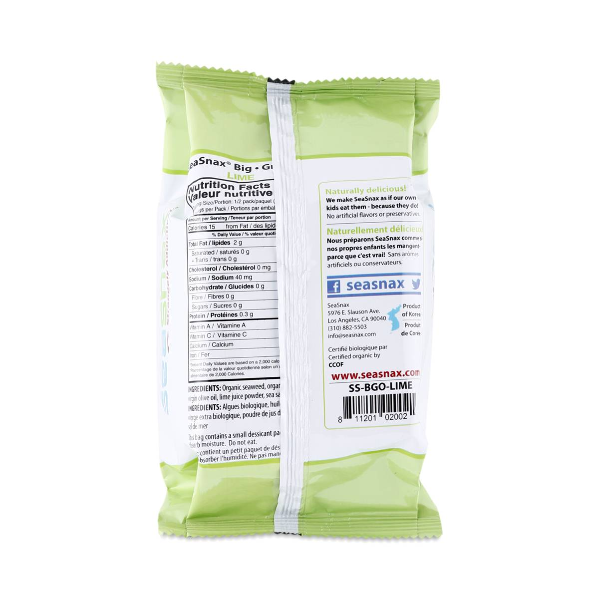 Lime Roasted Seaweed Snack By Seasnax Thrive Market