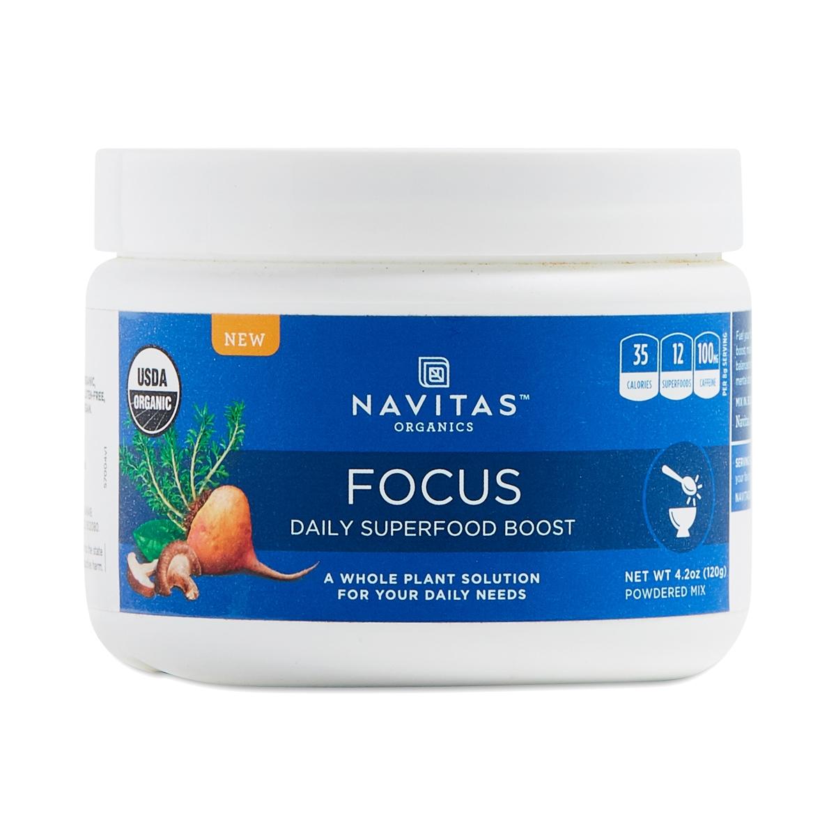 Navitas Organics Daily Superfood Boost - Focus 4.2 oz tub