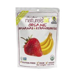 Organic Freeze Dried Raw Bananas & Strawberries