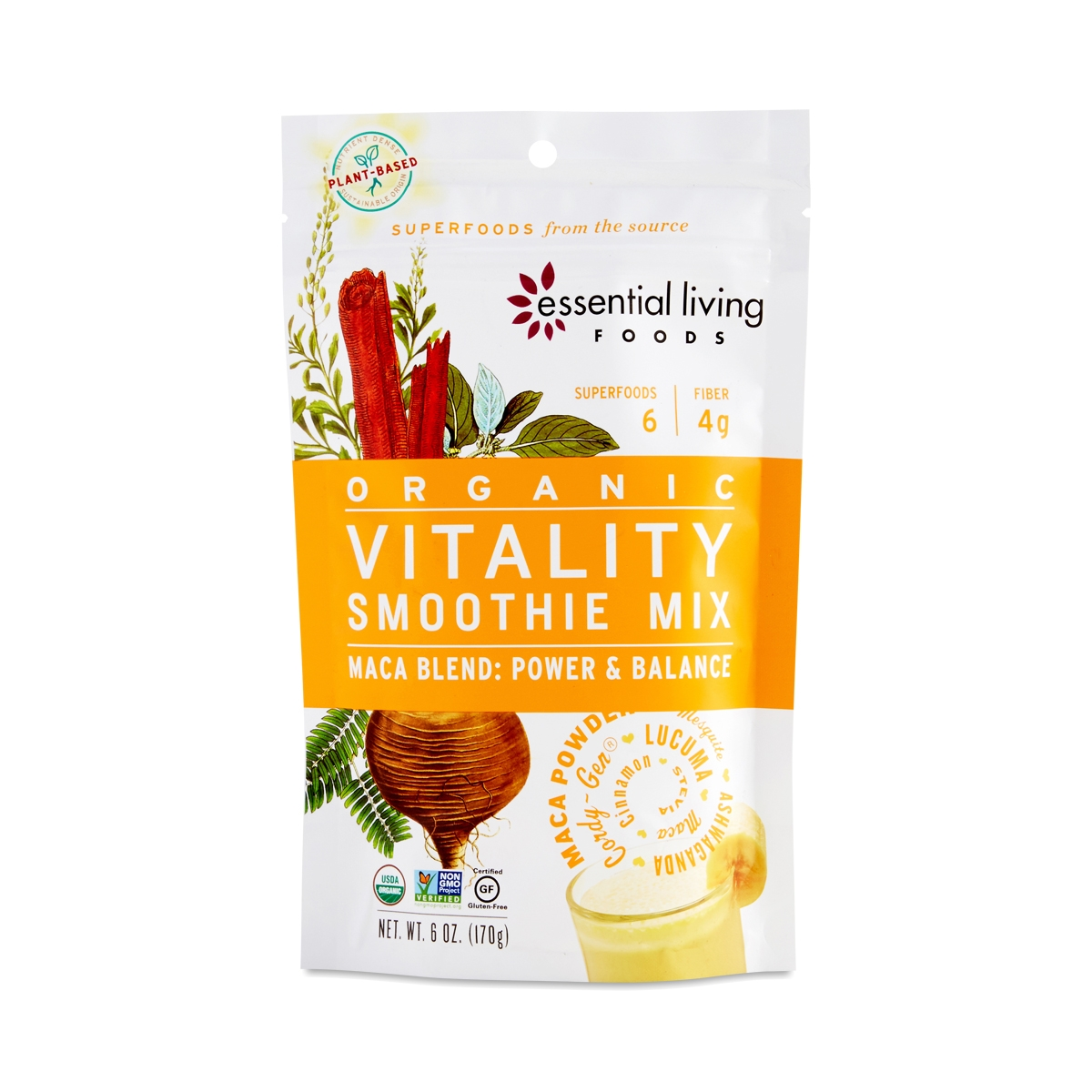 Maca Blend Vitality Smoothie Mix. Thrive · Food · Essential Living Foods