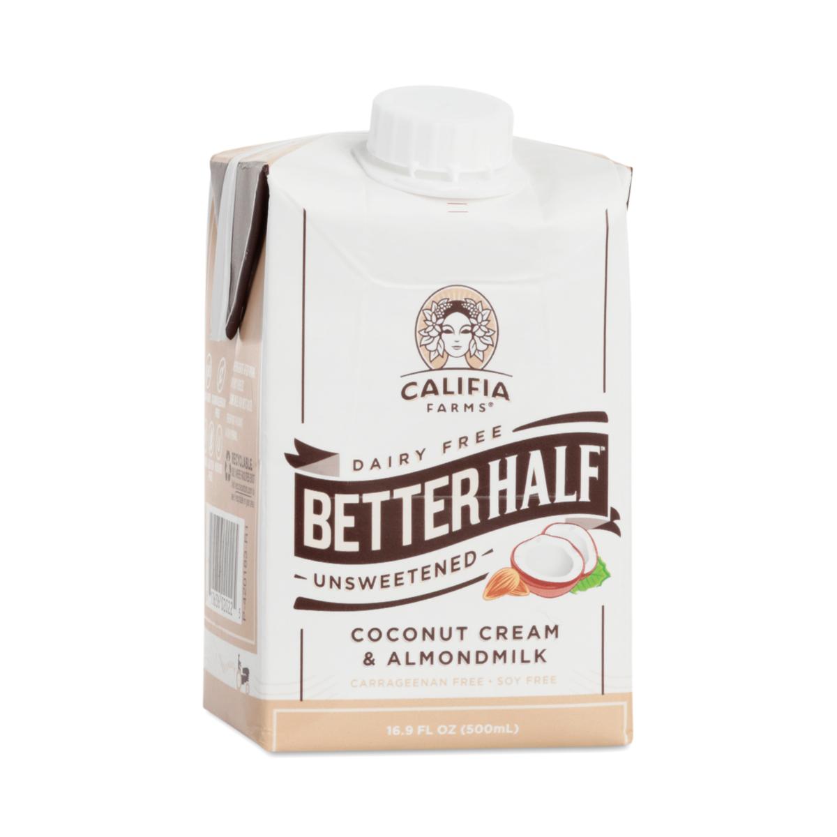 Califia Farms Coconut Cream Amp Almond Milk Better Half