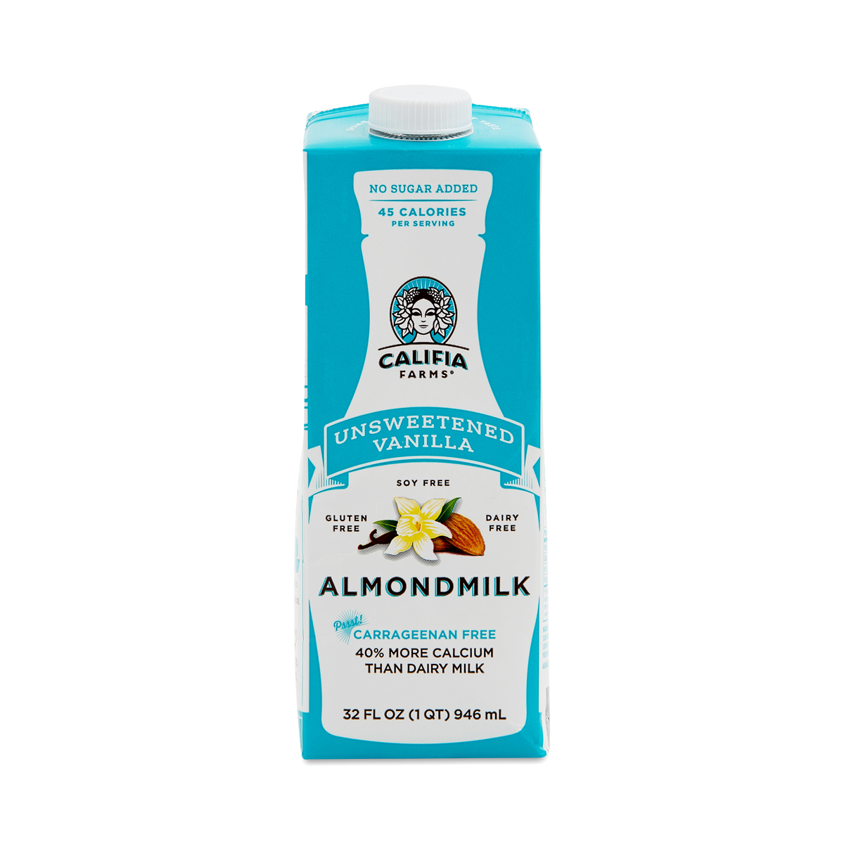 Califia Farms Shelf Stable Almond Milk, Unsweetened Vanilla 32 oz carton