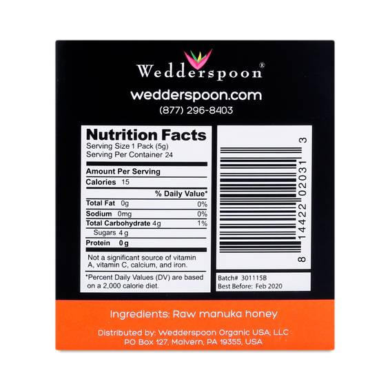Raw Honey On The Go, KFactor 16 by Wedderspoon - Thrive Market
