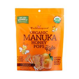 Organic Manuka Honey Pops - Orange