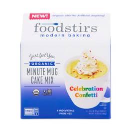 Organic Minute Mug Cake Mix, Vanilla Confetti