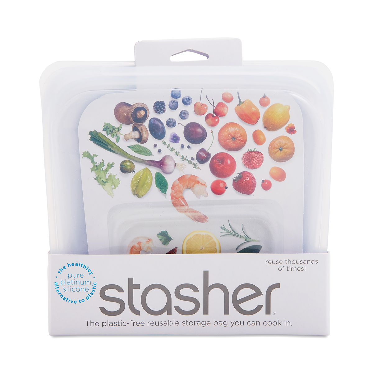 Stasher Reusable Silicone Bag, Clear 1 count