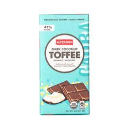Dark Coconut Toffee Organic Chocolate Bar