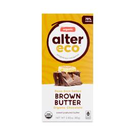 Dark Salted Brown Butter Organic Chocolate Bar