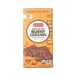 Dark Salted Burnt Caramel Organic Chocolate Bar
