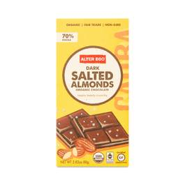 Organic Salted Almonds Dark Chocolate Bar