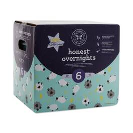 Overnight Diapers, Sleepy Sheep, Size 6