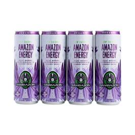 Amazon Low Calorie Energy Drink - Acai Berry, 4-Pack