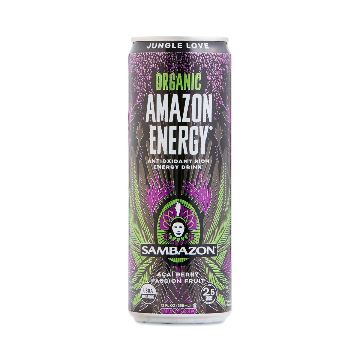 Sambazon Jungle Love Amazon Energy Drink Acai Berry Passion Fruit Thrive Market