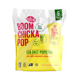 BOOMCHICKAPOP Sea Salt Popcorn, 6-pack