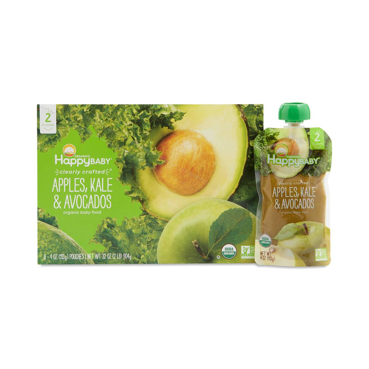 Happy Family Organic Baby Food Apples Kale Amp Avocados