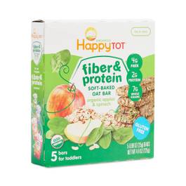 Fiber & Protein Soft Oat Bars, Apples & Spinach