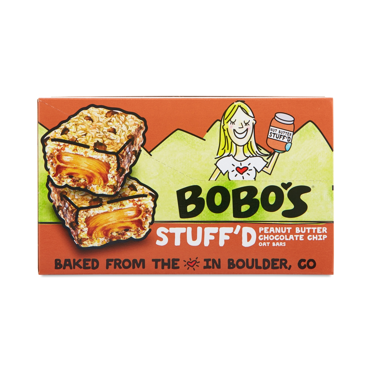 Bobo's Oat Bars Peanut Butter Filled Chocolate Chip Oat Bars twelve 2.5 oz bars