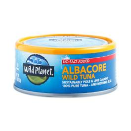 Non-GMO Wild Albacore Tuna - No Salt Added