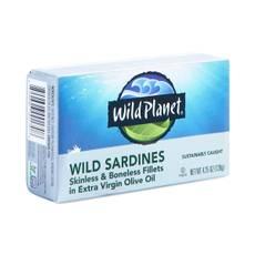 Wild Sardines in Extra Virgin Olive Oil, Boneless