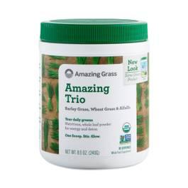 Amazing Trio Greens Powder: Barley Grass, Wheat Grass & Alfalfa