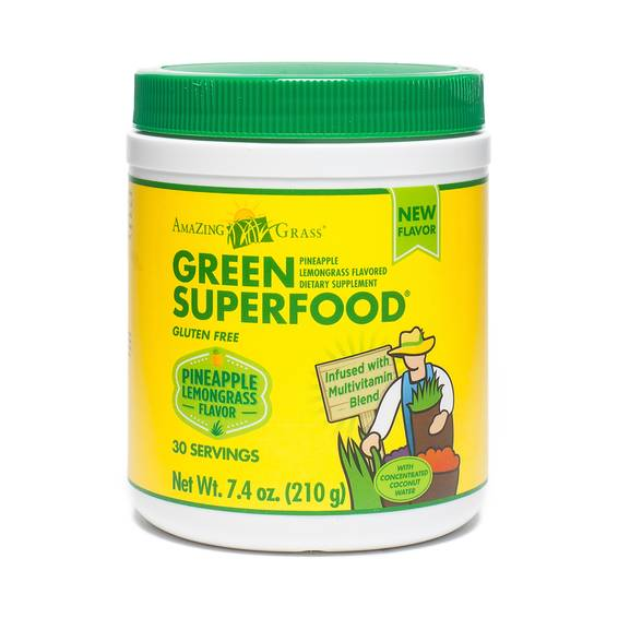 Pineapple Lemongrass Green Superfood Powder