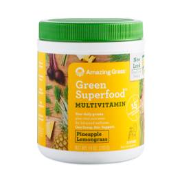 Multivitamin Green Superfood Powder, Pineapple Lemongrass