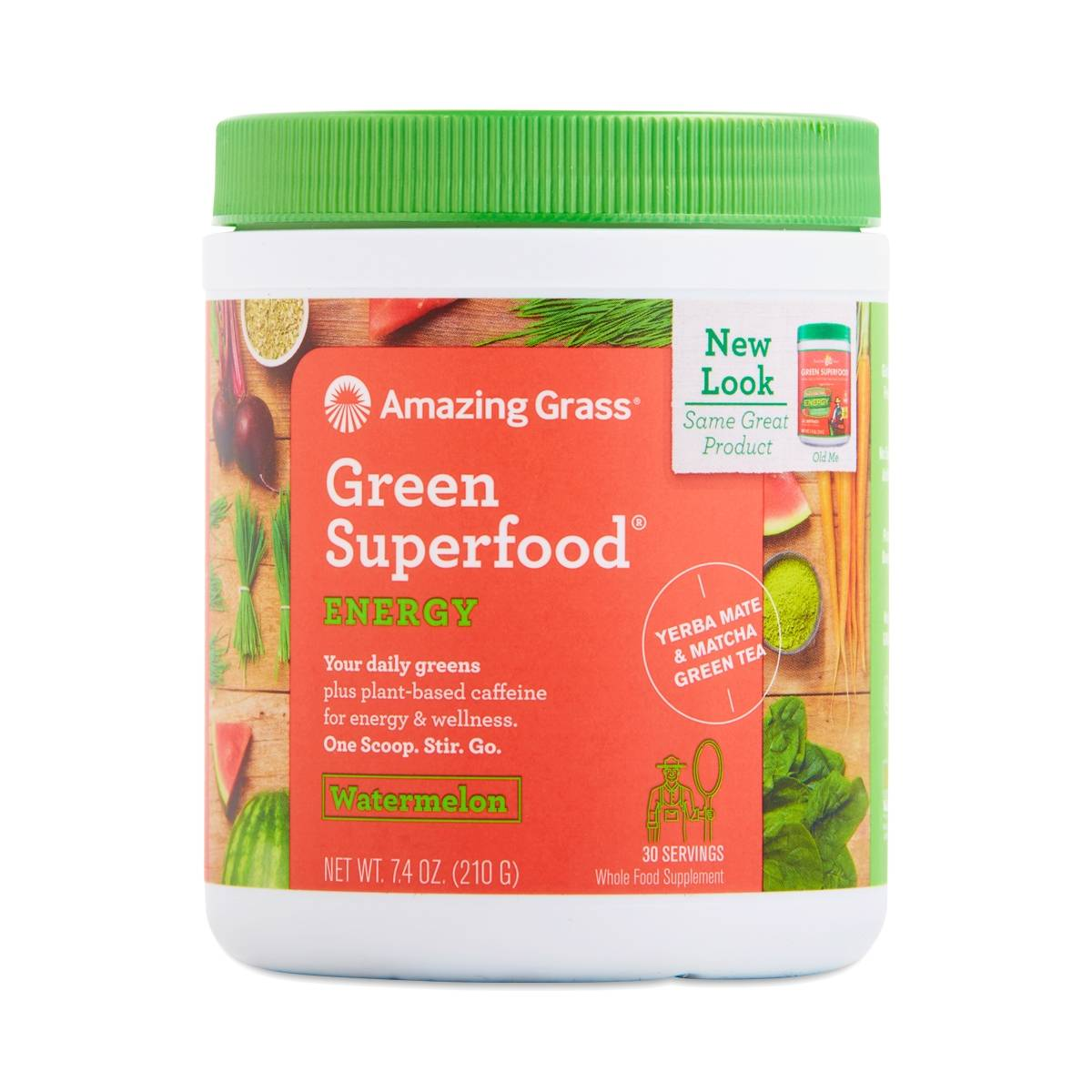 Amazing Grass Green Superfood Powder Energy Watermelon