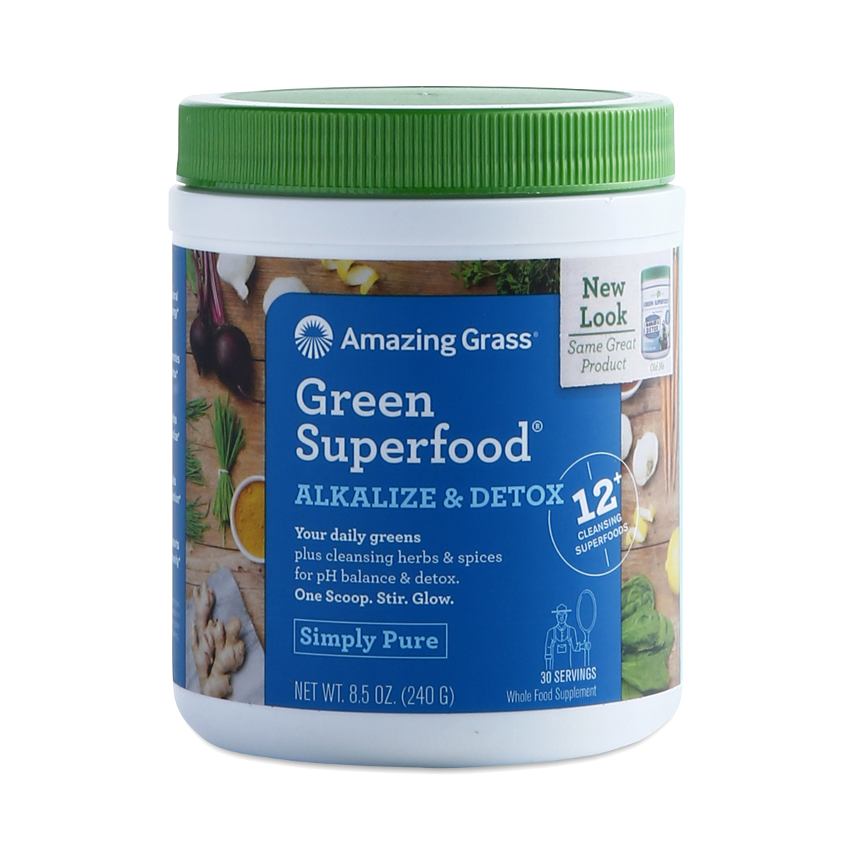 Amazing Grass Alkalize & Detox Green SuperFood 8.5 oz container