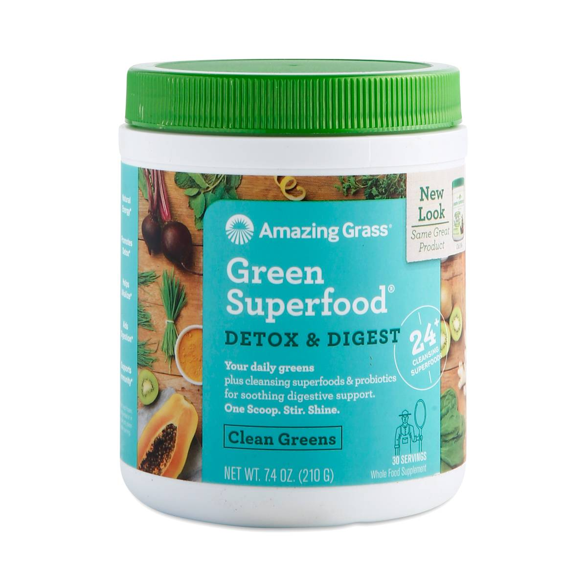 Greens detoxifying alkalizing drink powder