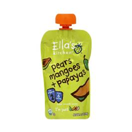 Pears, Mangoes, Papayas Baby Food Pouch
