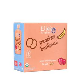 Organic Baby Food Peaches and Bananas